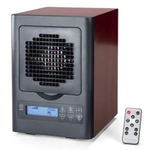 6 stage digital air cleaner remote wood grain